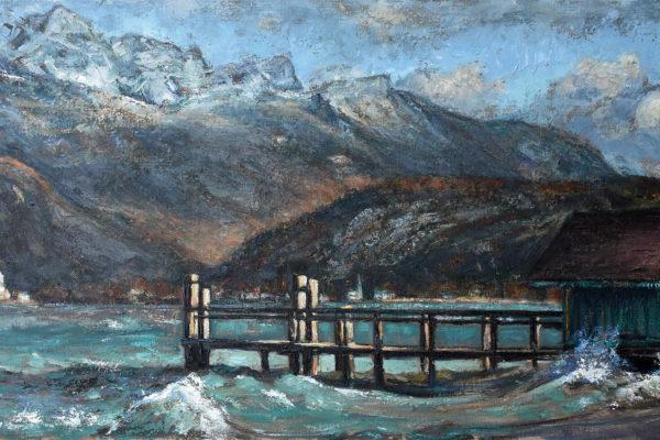 ©ISABELLE_ALLARD_L'embarcadère de Saint-Jorioz en hiver
